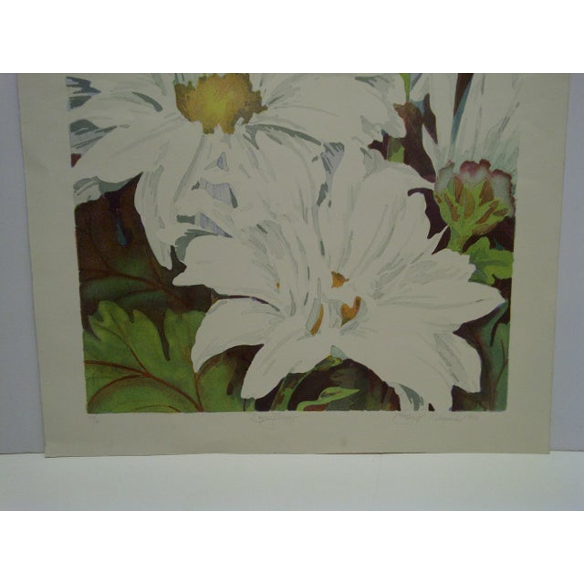 """Limited Edition """"Daisy Mums"""" Signed Numbered (72/100) Print by Bukonik For Sale - Image 4 of 10"""