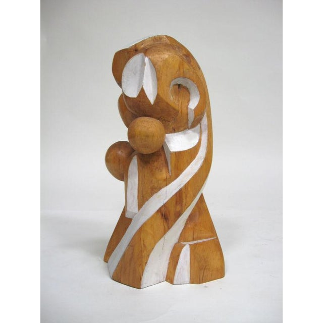 Abstract wood sculpture by Arthur Rossfield - Image 6 of 11