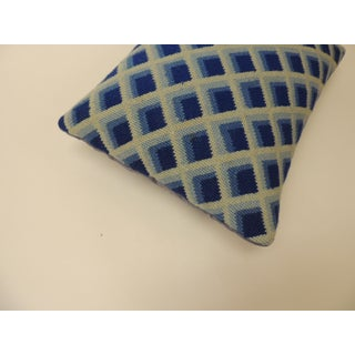 Vintage Blue and White Tapestry Decorative Bolster Pillow Preview
