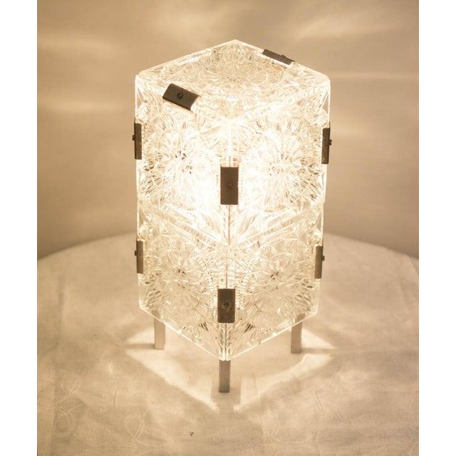 Mid Century Pressed Table Lamp For Sale - Image 4 of 9