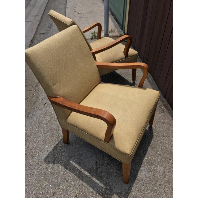 Art Deco Club Chairs - Pair - Image 10 of 10