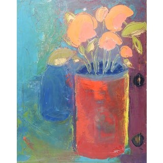 Modernist Still Life Painting by Bruce Clements For Sale