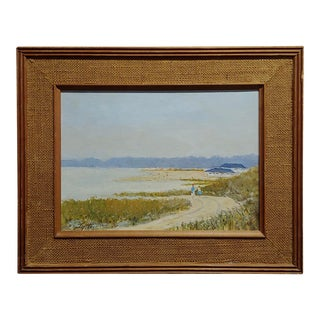 """Walking Trail on a California Beach Landscape"" Oil Painting by Ralph Arthur Lyle For Sale"