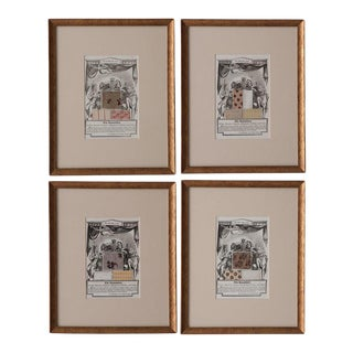 19th Century English Prints, The Repository - Set of 4 For Sale