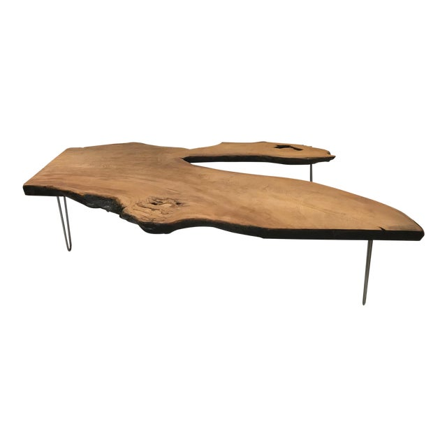 Large Organic Teak Live Edge Coffee Table - Image 1 of 7