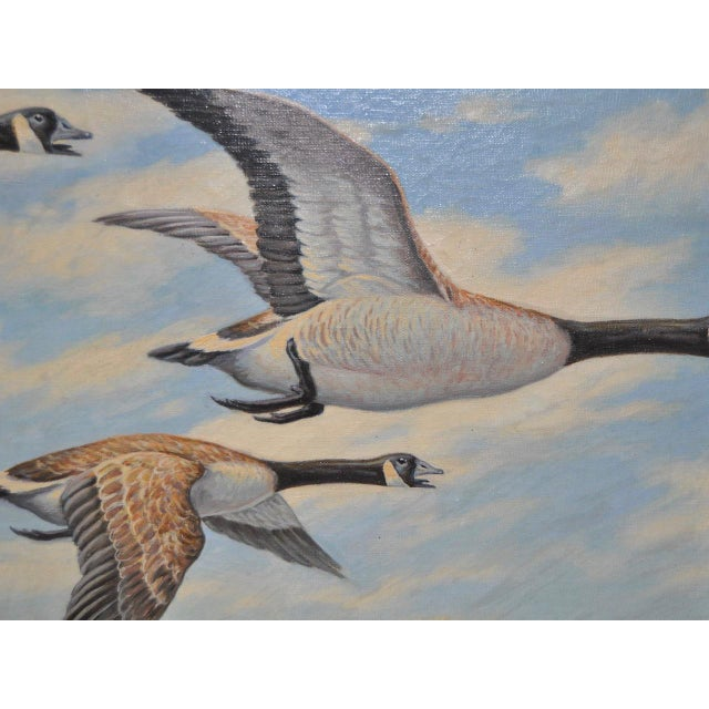 """Contemporary """"Geese in Flight"""" Original Oil Painting For Sale - Image 3 of 8"""