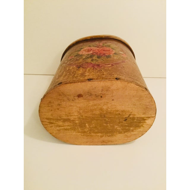 Antique French Floral Waste Basket For Sale In New York - Image 6 of 7