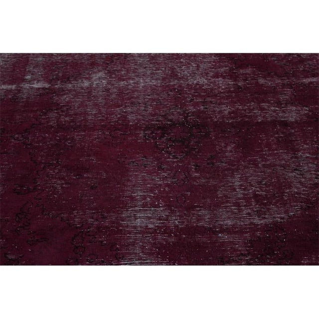 """Red Modern Industrial Style Distressed Over-Dyed Persian Tabriz Rug - 9'3"""" x 12'1"""" For Sale - Image 8 of 13"""