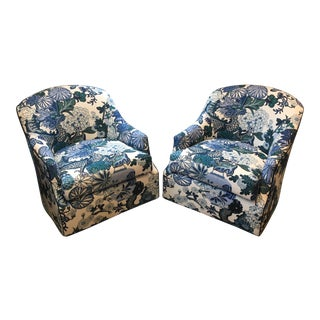 CR Laine Lincoln Swivel Chairs - A Pair