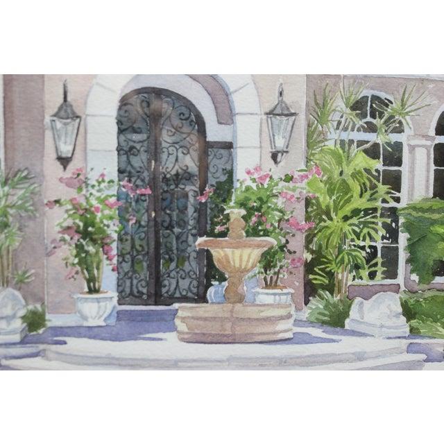 "Palm Beach Villa"" 1996 Watercolor - Image 2 of 3"
