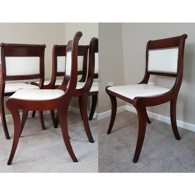 1950s Drexel Mahogany French Empire Style Dining Chairs
