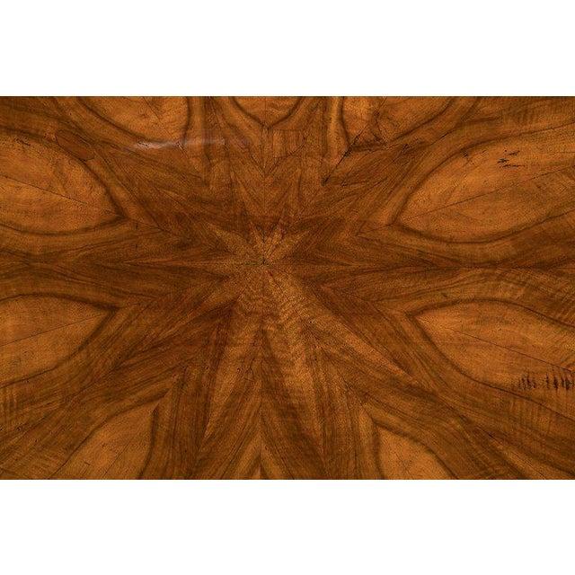 Fine Biedermeier Figured Walnut Centre Table For Sale - Image 4 of 8