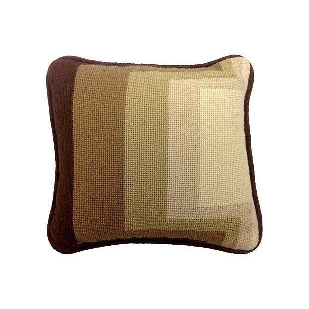 Mod Needlepoint Pillows - Set of 3 - Image 4 of 5