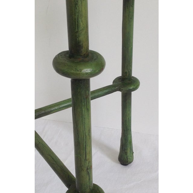 Giacometti-Style Forged Round End Table - Image 11 of 11