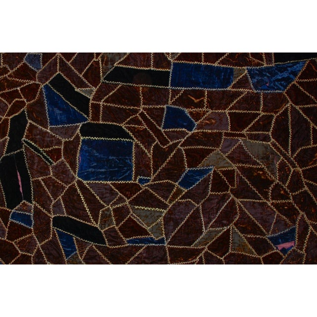 Abstract 19th Century American Crazy Quilt For Sale - Image 3 of 8