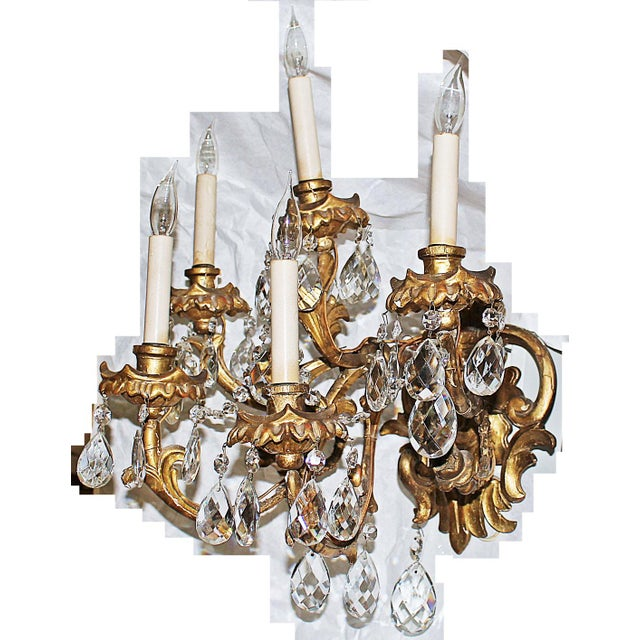 Italian Carved Sconces For Sale - Image 4 of 8