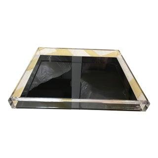 Alexandra Von Furstenberg Acrylic Black Tray