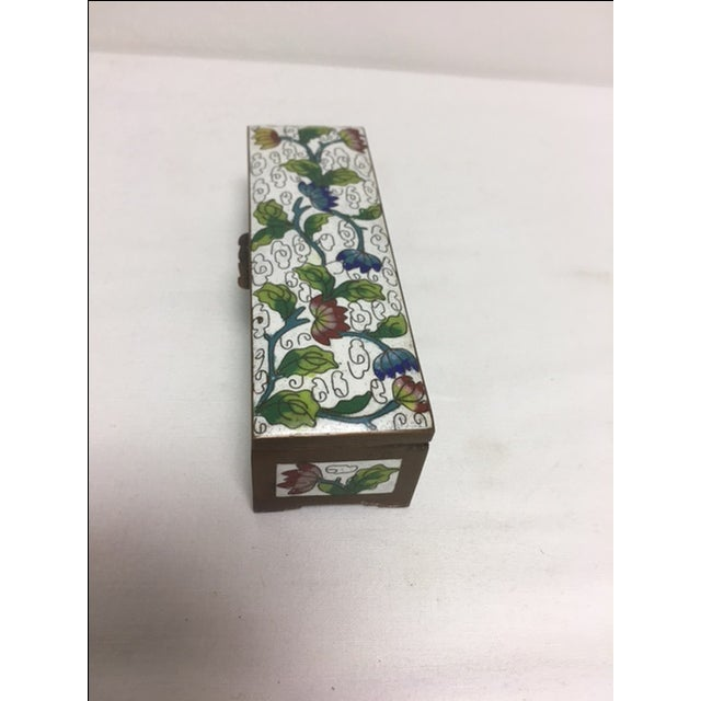 Asian Antique Cloisonne Stamp Box For Sale - Image 3 of 8