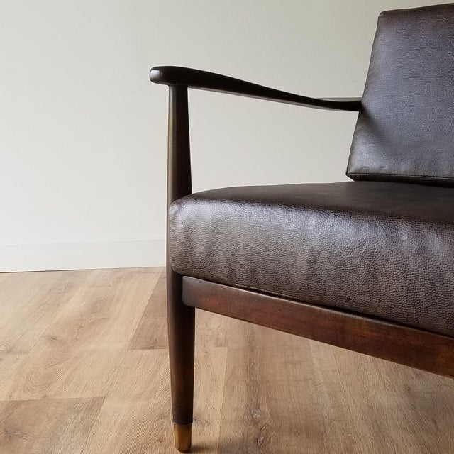 1960s Newly Upholstered Folke Ohlsson Lounge Chair For Sale - Image 10 of 13