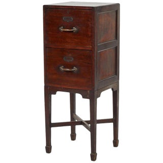 1910s Edwardian Mahogany Two Drawer Filing Cabinet For Sale