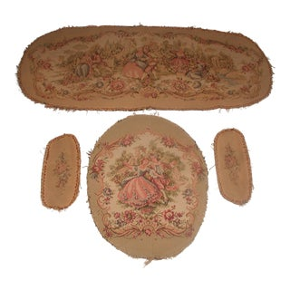Early 20th Century French Tapestry for Settee & Chair - Set of 4 For Sale