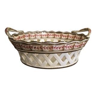 1980s Provincial European Porcelain Bowl For Sale