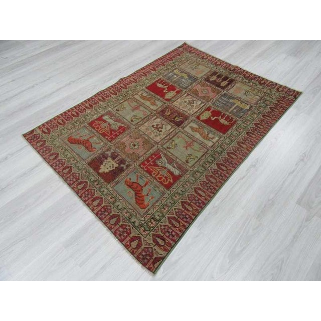 Vintage Decorative Turkish Rug - 4′ × 5′8″ - Image 5 of 6