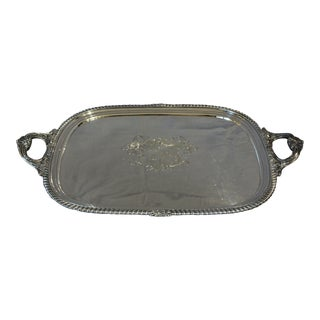 George IV Armorial Engraved Sterling Tea Tray For Sale