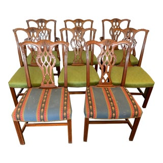 John Widdicomb Chippendale Dining Chairs - Set of 8 For Sale