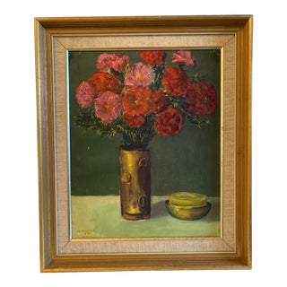 Still Life With Flowers Painting For Sale