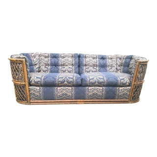 1970s Vintage Bohemian Bamboo Lounger Sofa For Sale
