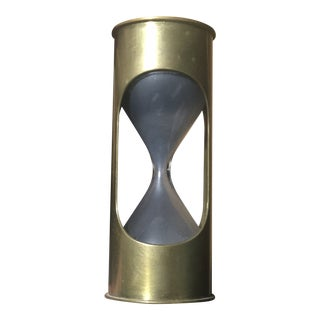 Vintage Mid-Century Brass Hourglass For Sale