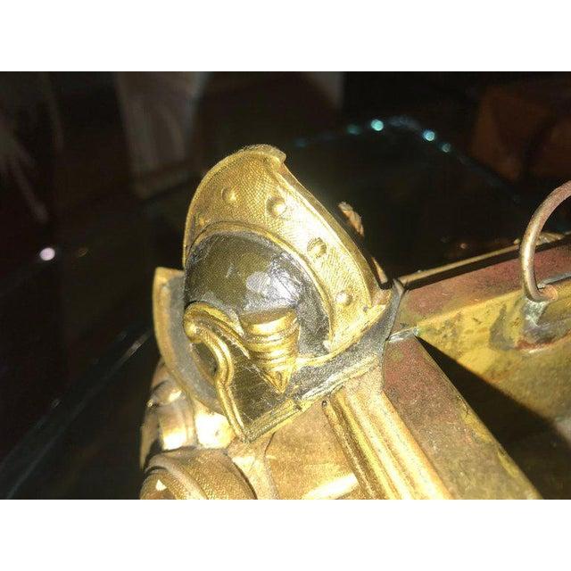 Empire 19th Century Dore Bronze Jardinière or Planter Has Its Original Insert For Sale - Image 11 of 13