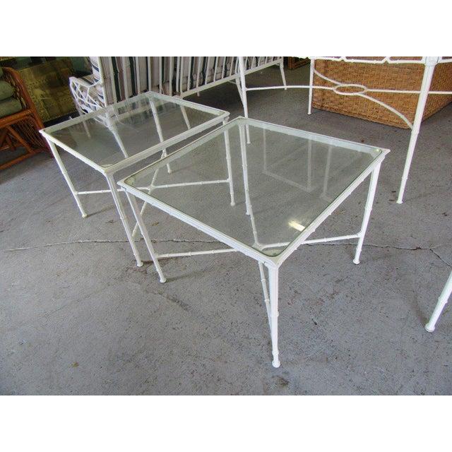 Regency Brown Jordan Side Tables - a Pair For Sale - Image 3 of 8