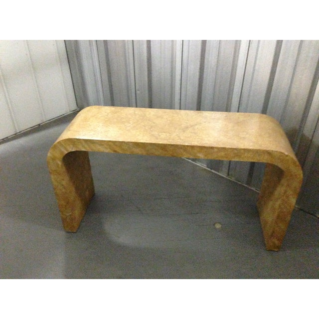Karl Springer Style Oil Drop Finish Table - Image 2 of 5