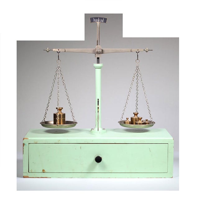 1940s West German Pharmacy Scale - Image 2 of 4