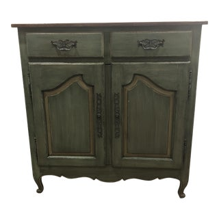 Green French Country Cupboard