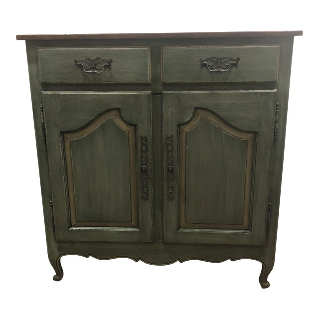 Green French Country Cupboard For Sale
