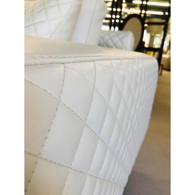 White 21st Century C&b Italia Gurian White Leather Italian Sofa For Sale - Image 8 of 13