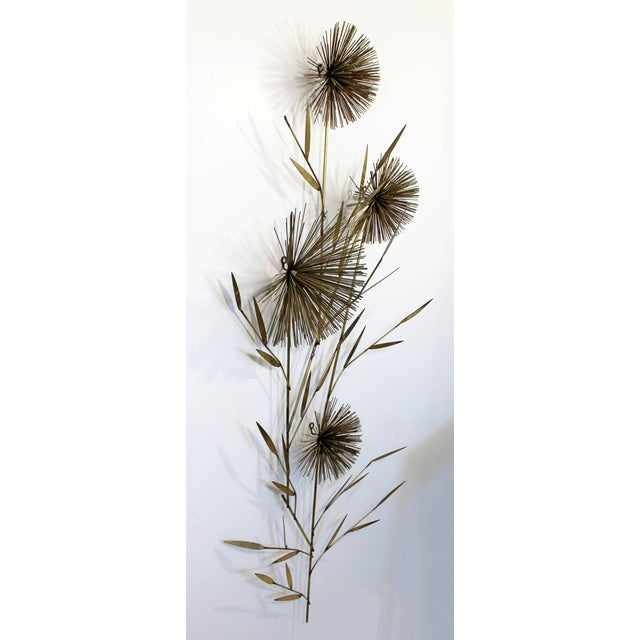 Mid-Century Modern 1970s Mid-Century Modern Curtis Jere Pom Pom Wheat Sheaf For Sale - Image 3 of 7