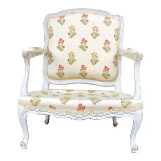 1960s Vintage French Bergere Chair For Sale
