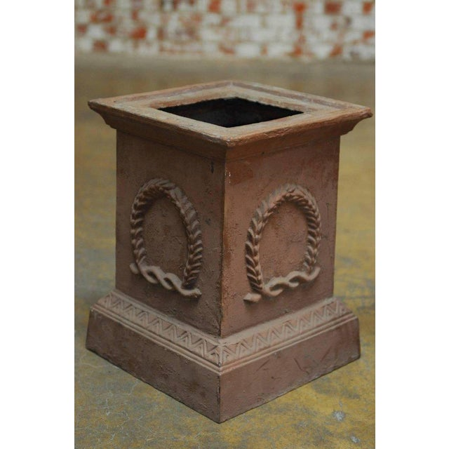 Neoclassical Cast Iron Pedestals or Urns - a Pair For Sale - Image 5 of 10
