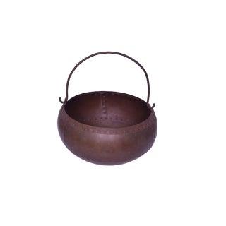 Royce Metal Decorative Pot for Plants, Iron Pot for Decoration, Rustic Finish For Sale