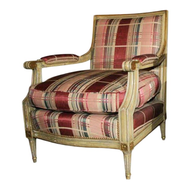 Fabulous French Bergere Chair by Jansen For Sale