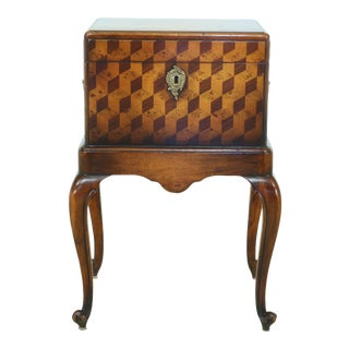 Theodore Alexander Marquetry Inlaid Box Stand For Sale