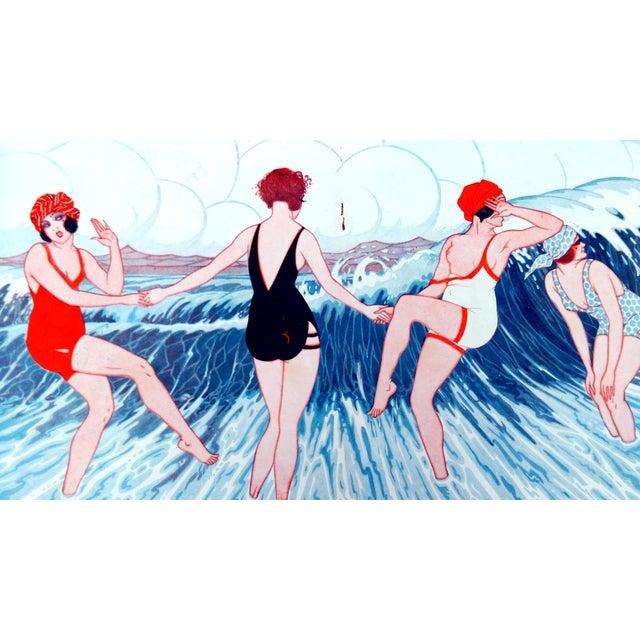 "1924 Le Sourire ""La Trempette"" Framed Print - Image 3 of 9"