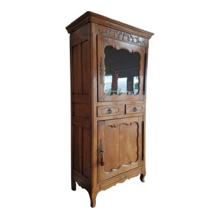 French Provincial Louis XIV Armoire Bonnetiere For Sale
