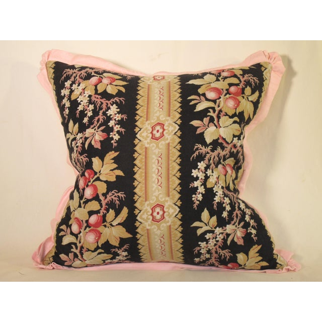 French 19th Century French Fabric Pillow For Sale - Image 3 of 3