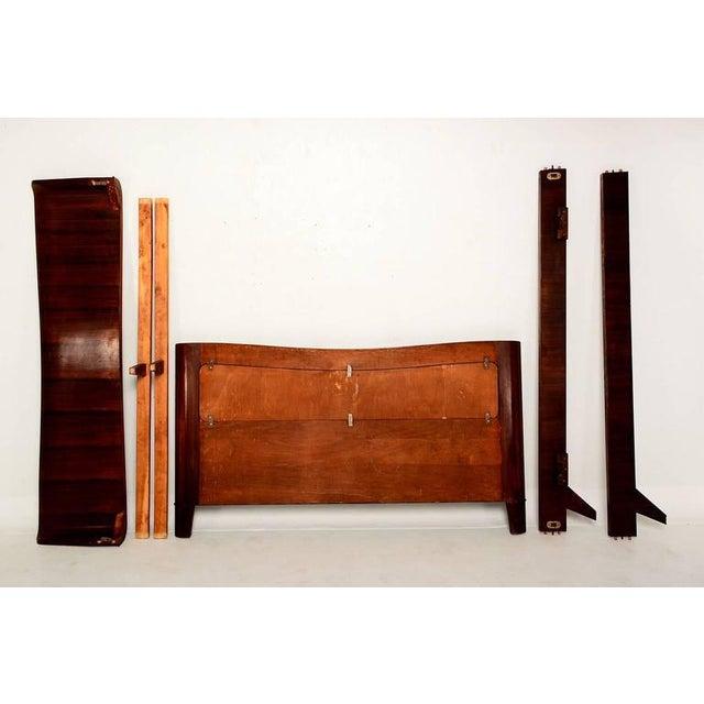 1950s Italian Parchment & Walnut Queen Bedroom Set For Sale - Image 5 of 9