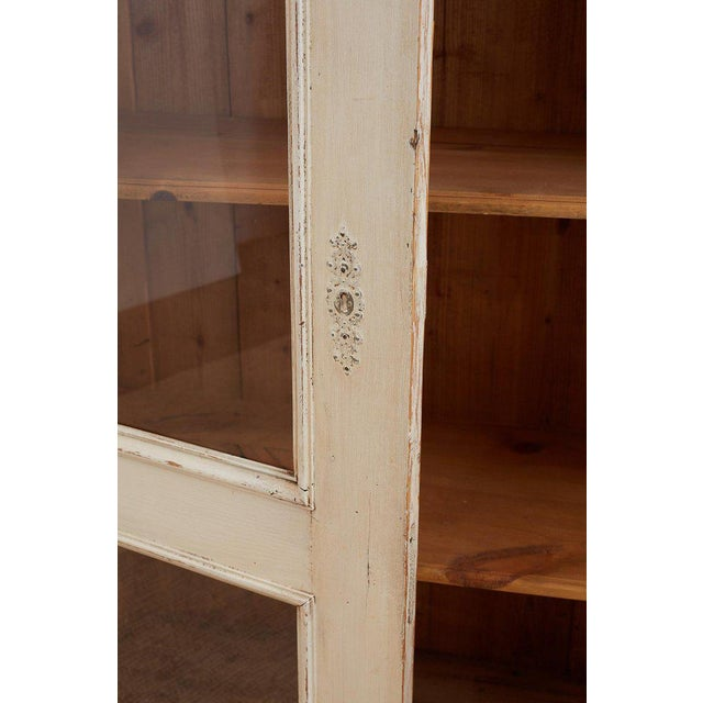 Swedish Gustavian Style Pine Bibliotheque Bookcase For Sale - Image 4 of 13